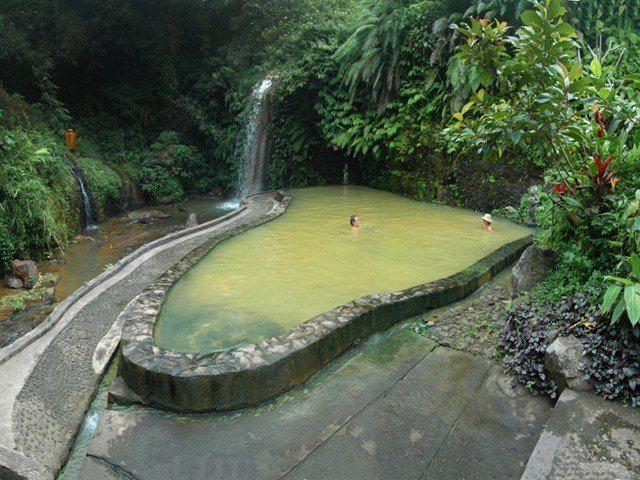 Bathing in Angseri Hot Spring
